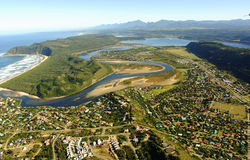 Aerial photo of Sedgefield, Garden Route, South Africa Stock Photos