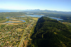 Aerial photo of Sedgefield, Garden Route, South Africa Royalty Free Stock Image