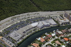 Aerial photo of a shopping center Royalty Free Stock Photography