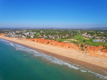 Aerial. Photo from the sky, golf courses Vale de Lobo. Portugal Royalty Free Stock Photo