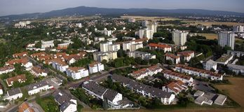 Aerial photo of a small German town Royalty Free Stock Image