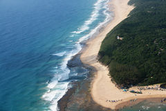 Aerial photo of Sodwana Bay royalty free stock image