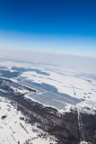 Aerial photo of solar power plant Stock Images