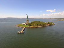 Aerial photo of the Statue of Liberty Royalty Free Stock Photography