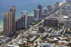Aerial photo of Sunny Isles Beach FL. Stock aerial photo of Sunny Isles Beach FL Royalty Free Stock Photography