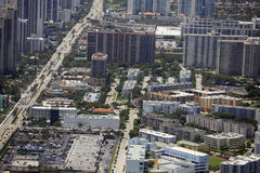 Aerial photo of Sunny Isles Beach FL Royalty Free Stock Photography