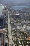 Aerial photo Sunny Isles Florida Stock Image