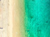 Aerial photo of Sydney - Shark Beach royalty free stock photos