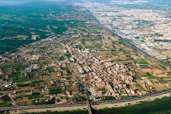 Aerial Photo Of Valencia City Surrounding Areas In Spain Stock Photography