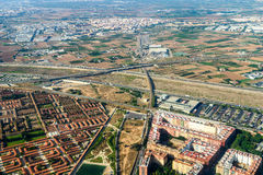 Aerial Photo Of Valencia City Surrounding Areas In Spain Royalty Free Stock Photo