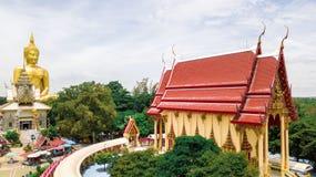 Aerial Photo Wat Muang Ang Thong Thailand. Aerial Photo Wat Muang Ang Thong Royalty Free Stock Photo