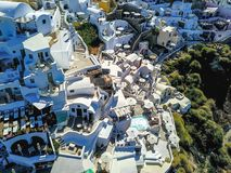 Aerial Photo of White Buildings Near Trees at Daytime Stock Images