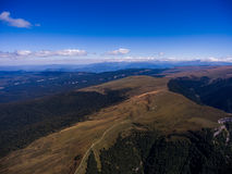 Aerial photo of wild mountain terrain. Russia. Stock Images