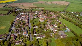 Aerial view of Winchelsea in the East Sussex, the smallest villa. Aerial photo of Winchelsea in the East Sussex, the smallest village in England royalty free stock photos