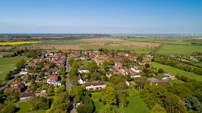 Aerial view of Winchelsea in the East Sussex, the smallest villa. Aerial photo of Winchelsea in the East Sussex, the smallest village in England stock image
