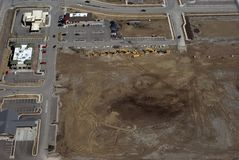Aerial photograph. Aerial photo of new commercial real estate construction and development Stock Photos