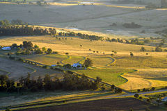 Aerial photograph of agriculture and farming of Queensland, Australia Royalty Free Stock Photo