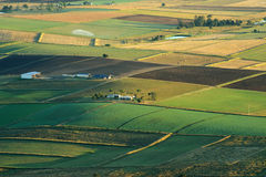 Aerial photograph of agriculture and farming of Queensland, Australia Stock Images