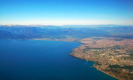 Aerial photograph of Antalya bay in Turkey Stock Image