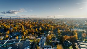 Aerial Photograph of City Buildings and Trees Stock Photos