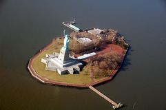 Aerial Photograph of Liberty Island Stock Photography