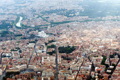 Aerial photograph of Rome and Vatican Stock Photography