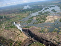 Aerial photograph Victoria Falls Stock Photography