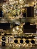 Aerial photographs of oil refineries plants, gas tank, oil tank, Chemical tank, refinery industry power investment business royalty free stock images