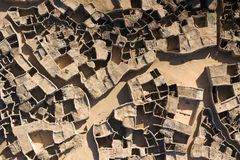 Aerial photographs of a village in Niger, Africa royalty free stock photos