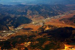 Aerial Photography. And clouds of China Royalty Free Stock Images
