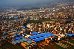 Aerial Photography. And clouds of China Royalty Free Stock Photos