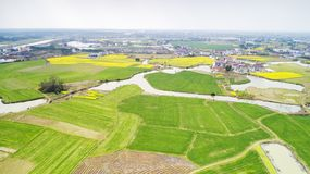Free Aerial Photography, Anhui Xuancheng Village, Spring And Rural Scenery Royalty Free Stock Photos - 142560568