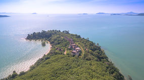 Aerial photography at Ao Po Royalty Free Stock Photos