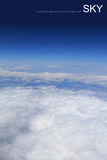 Aerial photography of atmosphere with clouds Royalty Free Stock Image