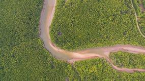 Aerial photography at Ban Samchong Royalty Free Stock Image