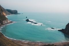 Aerial Photography of Beach Shore stock photo