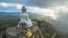 Aerial photography at big Buddha Royalty Free Stock Image