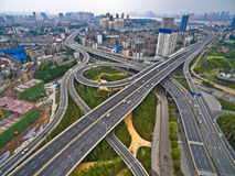 Free Aerial Photography Bird-eye View Of City Viaduct Bridge Road Lan Stock Photography - 95539522