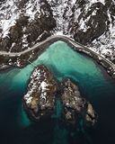 Aerial Photography of Body of Water stock photography