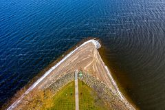 Aerial Photography of Body of Water royalty free stock photo