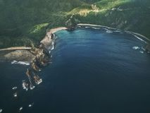Aerial Photography of Body of Water Near Green Island Stock Photos
