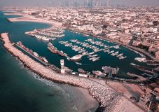 Aerial Photography of Body of Water Surrounded With Boats and Buildings stock photos