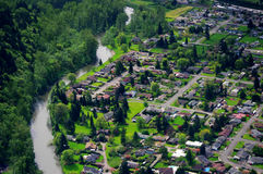 Aerial Photography/cabin Stock Image