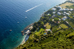 Aerial photography of Capri Island, Campania, Italy Stock Images