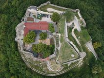 Aerial Photography of Castle Surrounded by Trees