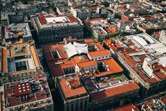 Aerial Photography Of City Buildings royalty free stock image