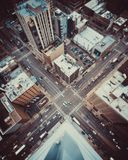 Aerial Photography Of City Buildings royalty free stock photo