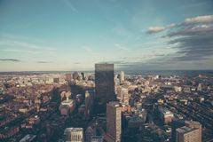 Aerial Photography of City Buildings Royalty Free Stock Photos