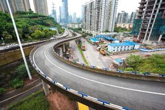 Aerial photography of city viaduct bridge road landscape Stock Photos