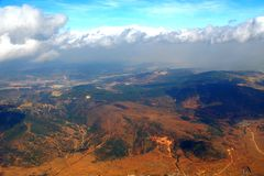 Aerial Photography and clouds. Of China Royalty Free Stock Photography